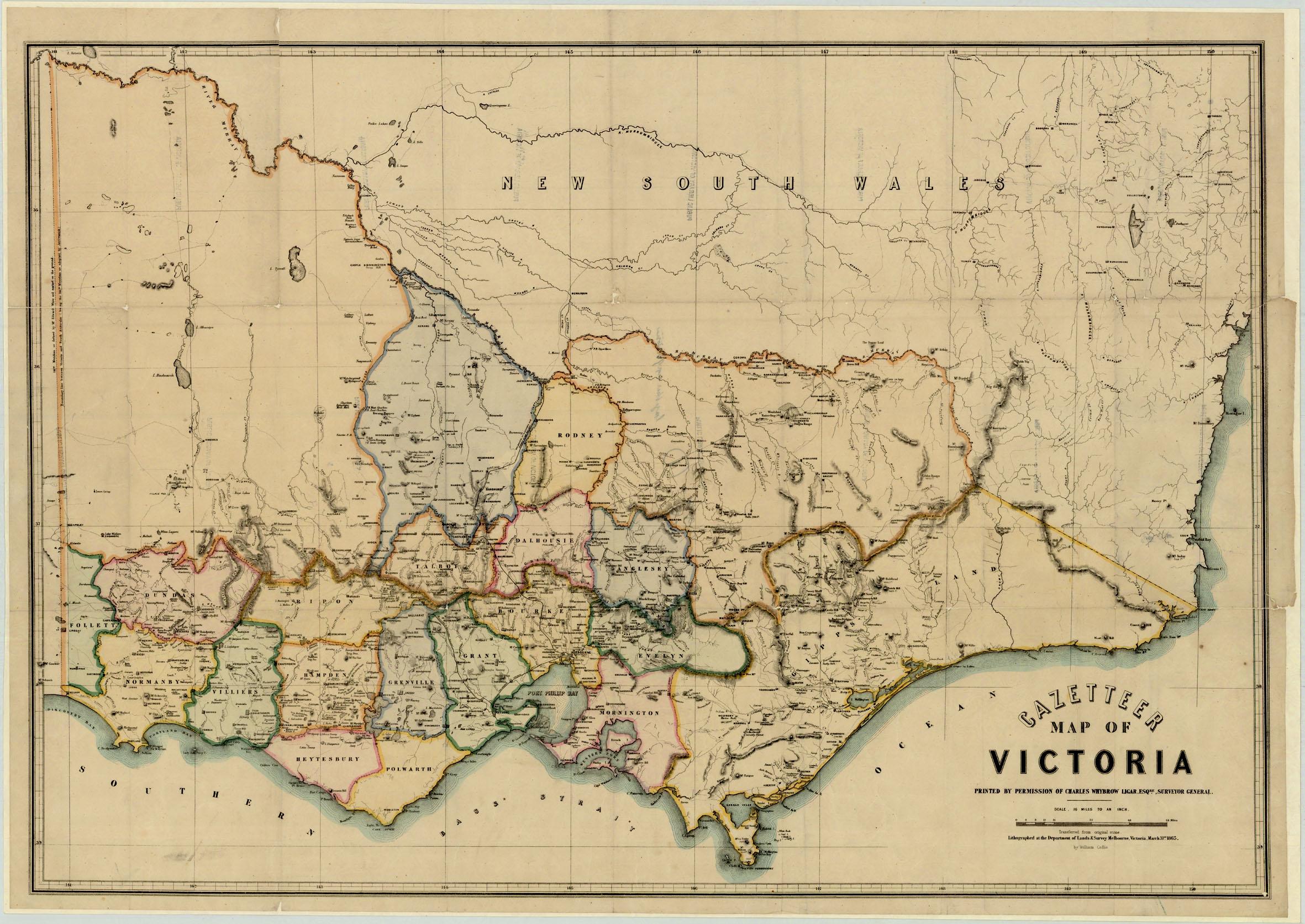 Gazetteer map of Victoria